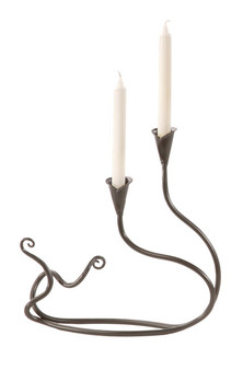 Double Windswept Candle Holder