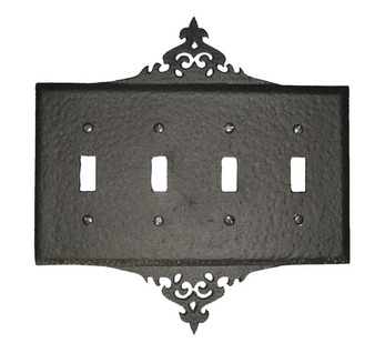 Decorative 4 Switch Plate