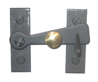 2 Inch Bar Latch with Brass Knob