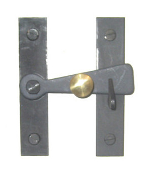 3 Inch Bar Latch with Brass Knob