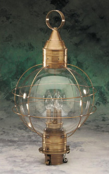 Onion Post Lantern - Large Shown in Antique Brass Finish