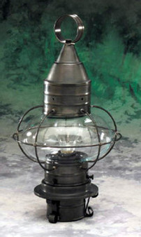 Onion Post Lantern - Small Shown in Gun Metal Finish