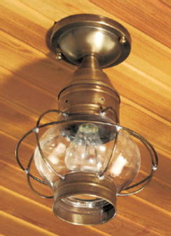 Onion Ceiling Light - Small Shown with Antique Brass Finish