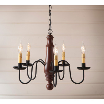 Norfolk 5 Light Chandelier - Sturbridge Red