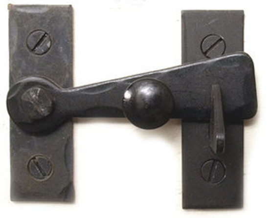2 Inch Bar Latch with Black Knob