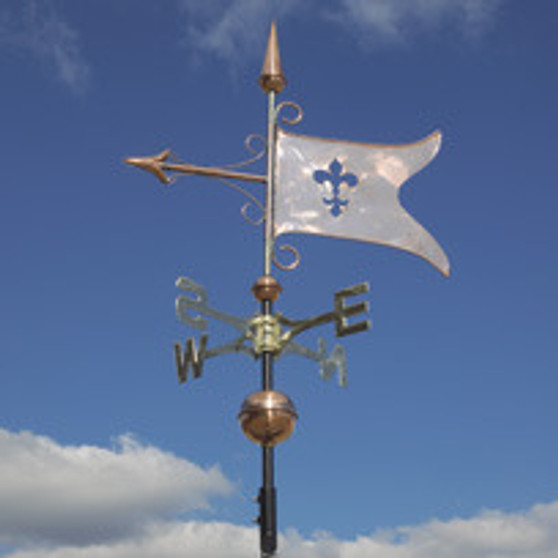 Copper Banner Weathervane