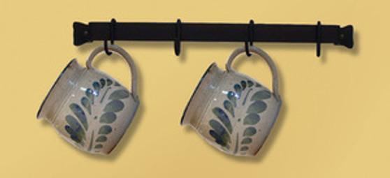 16 Inch Wall Rack with 4 Hooks