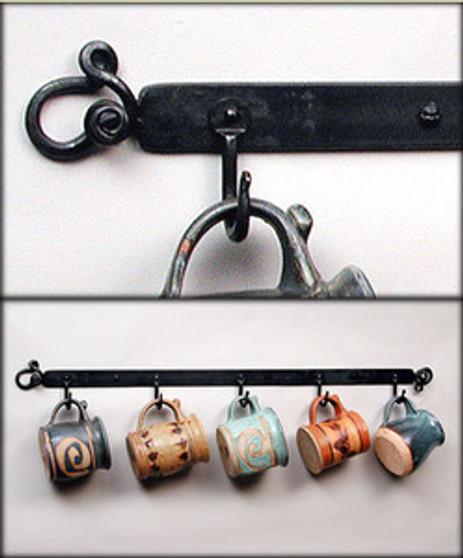 5 Hook Wall Rack
