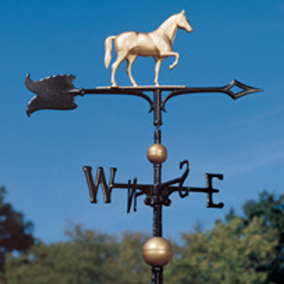 30 Inch Full-Bodied Horse Weathervane