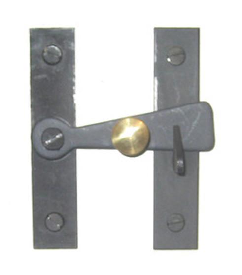 3 Inch Bar Latch with Brass Knob