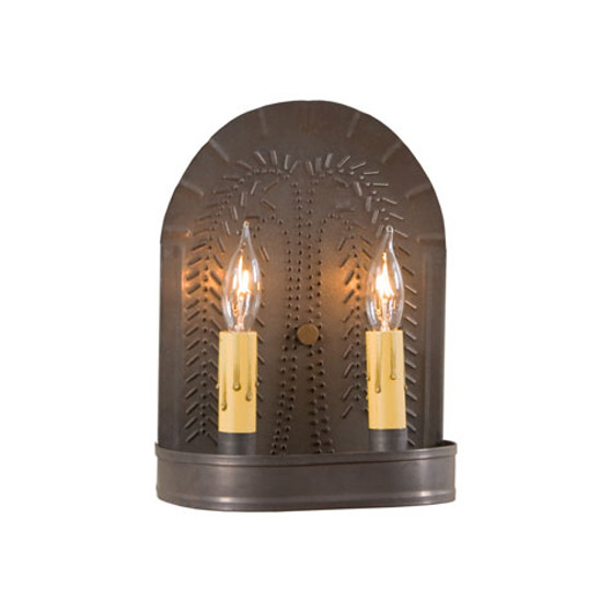Double Sconce with Willow Design