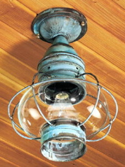 Onion Ceiling Light - Large Shown with Verde Green Finish