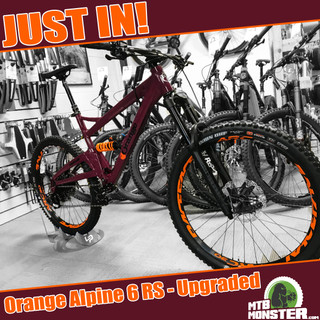Orange Alpine 6 RS Upgraded