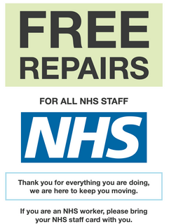 Free Cycle repairs for all NHS staff