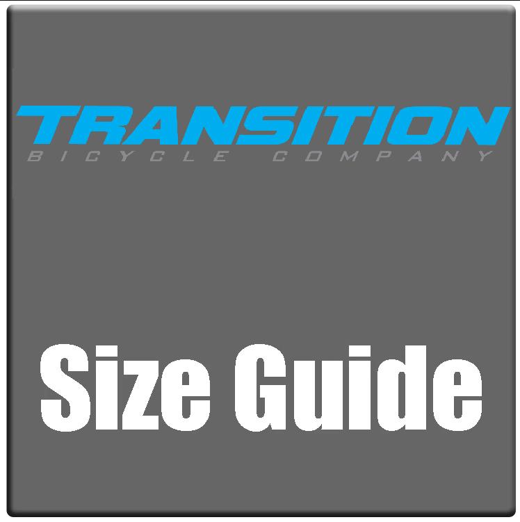 Transition bike sizing chart and bike size guide 2021