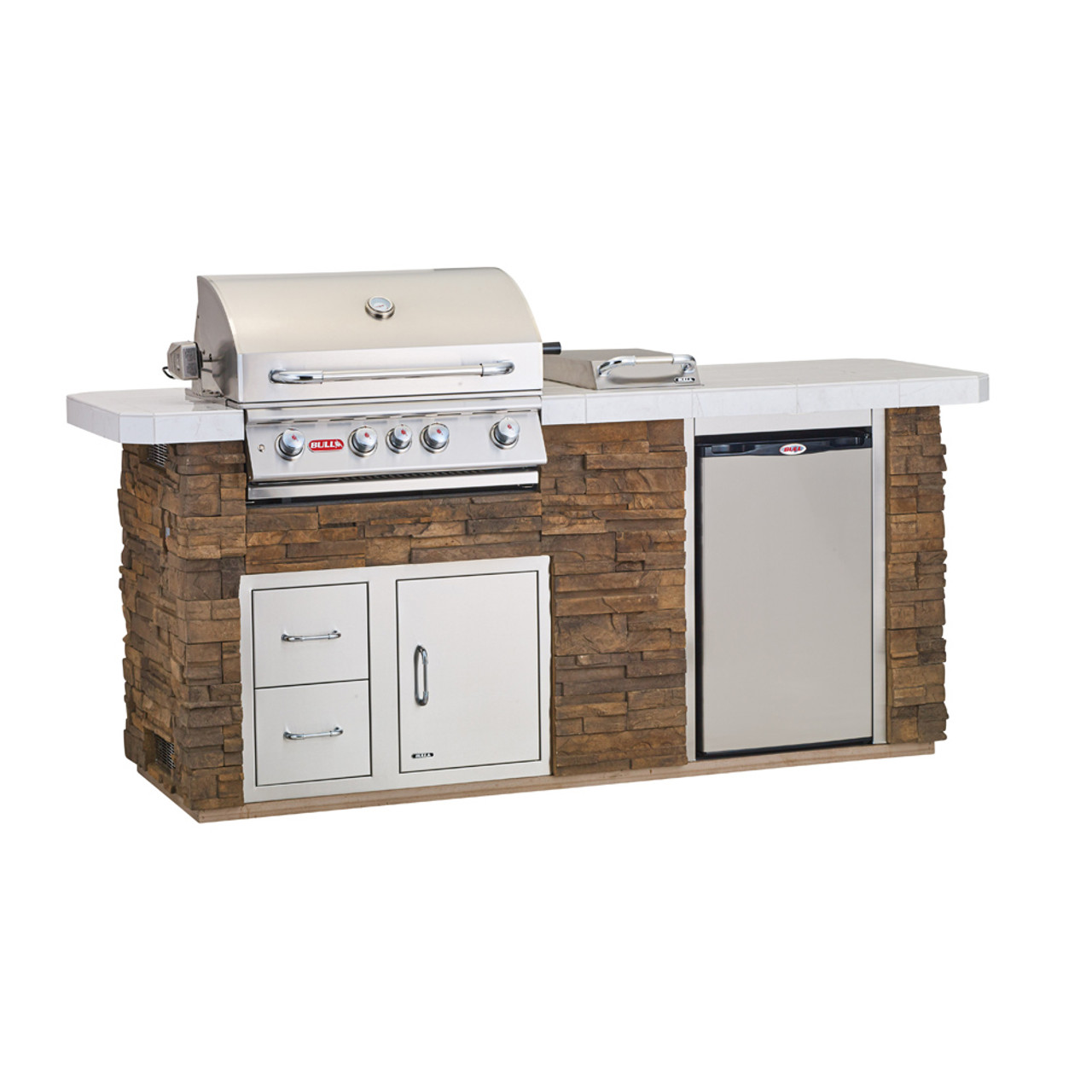 Outdoor Kitchen Island In Stucco 31010 Ams Fireplace