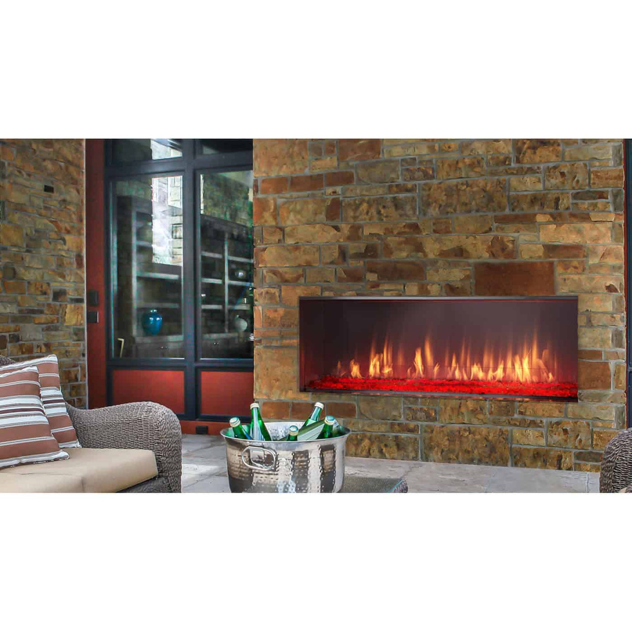 lanai outdoor vent free gas fireplace majestic