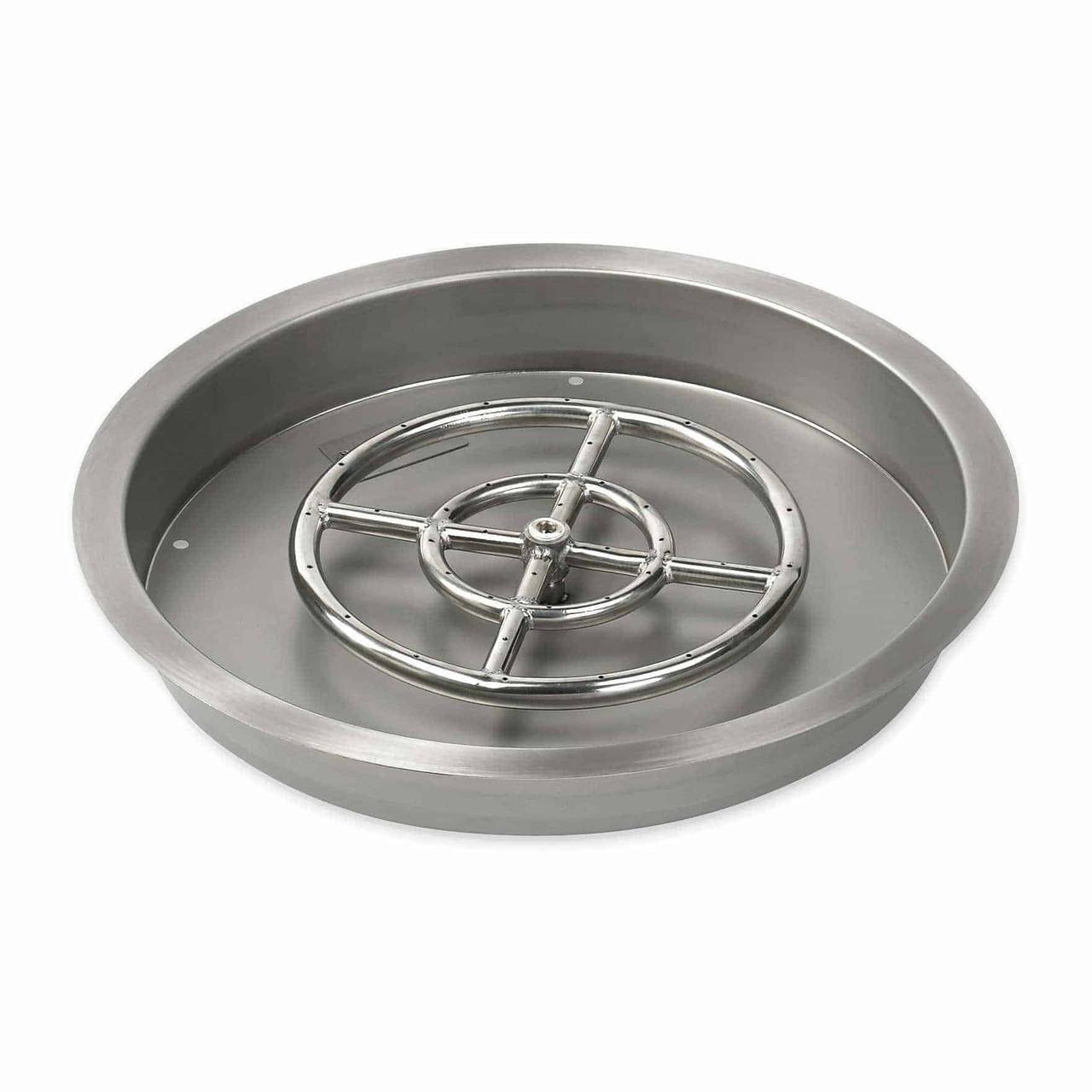 drop in fire pit pan