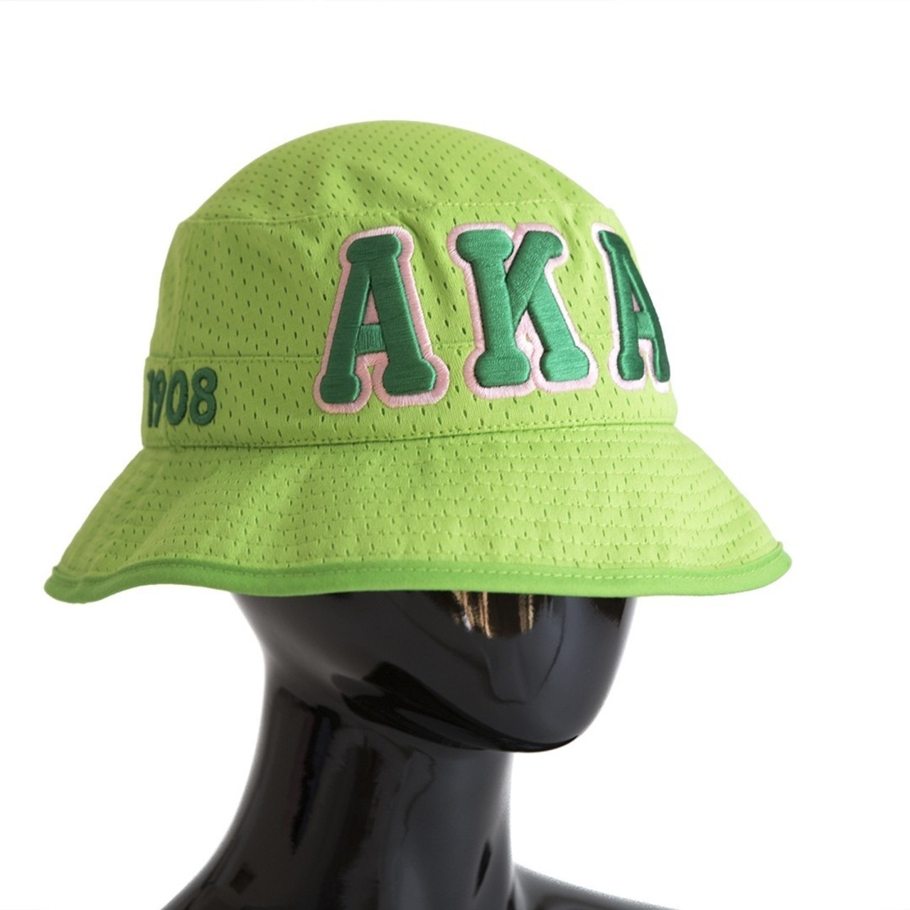 Aka Green Embroidered Bucket Hat Prime Heritage Gifts