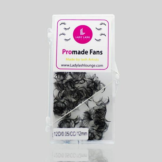 6D Promade Fan Volume Lashes, CC Curl (1000 fans).