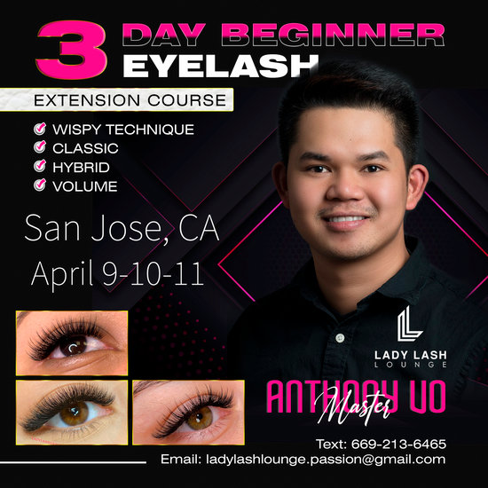 3-DAY BEGINNER COURSE (CLASSIC, HYBRID, BASIC VOLUME & WISPY)
