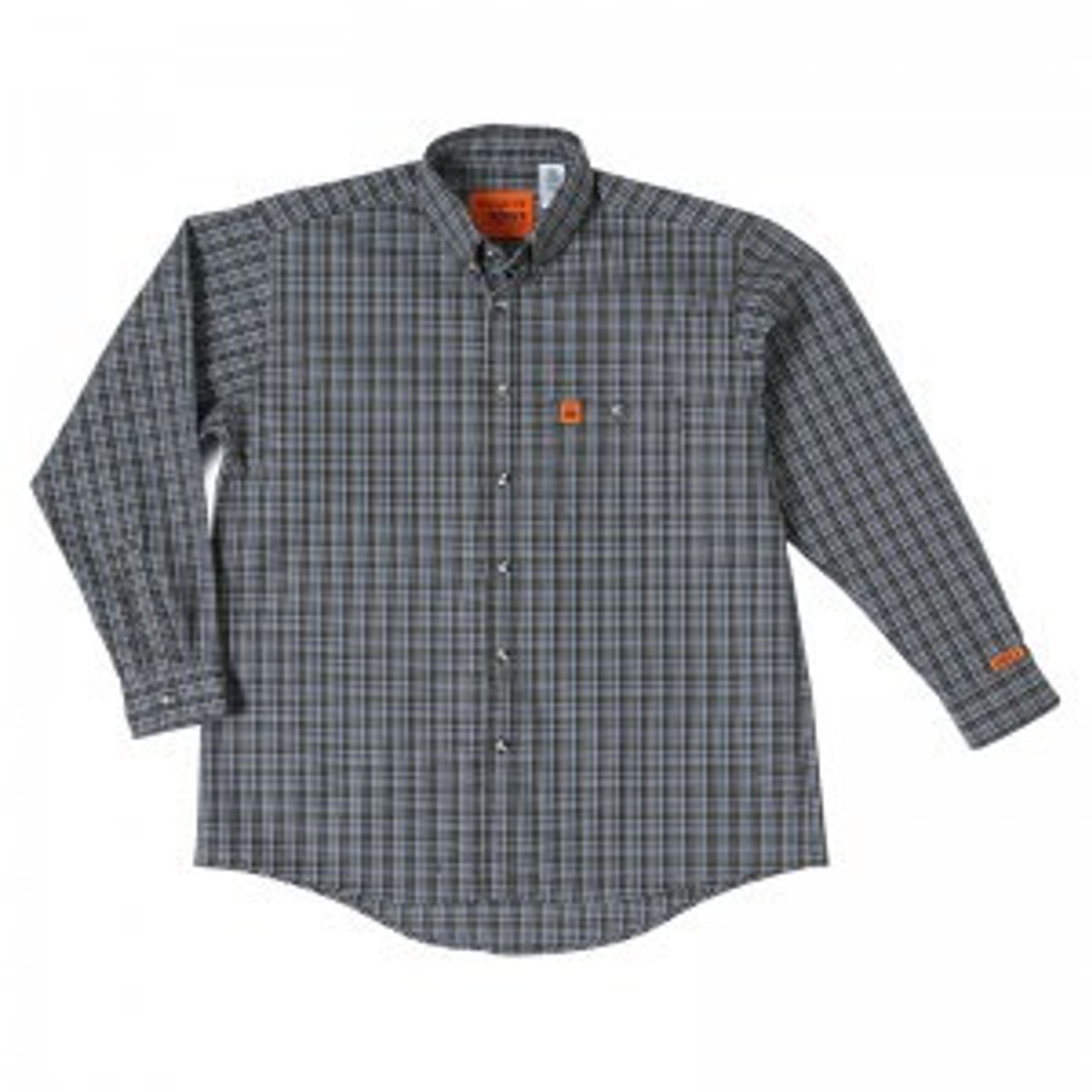 a88635a999f WRANGLER RIGGS WORKWEAR FLAME RESISTANT FR SHIRT CHOCOLATE PLAID -  Shelton s Clothing   Outdoors