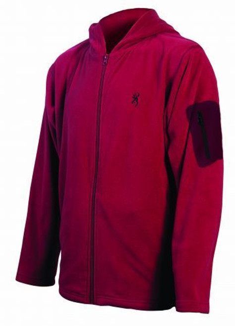 Browning Men's Hooded Fleece Jacket w/ Sleeve Pocket Mens BRI0028 Cedar