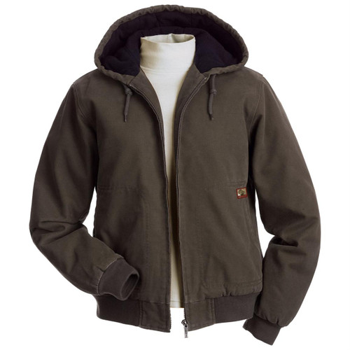 Women's Cody Brown Tobacco Hooded Canvas Work Jacket