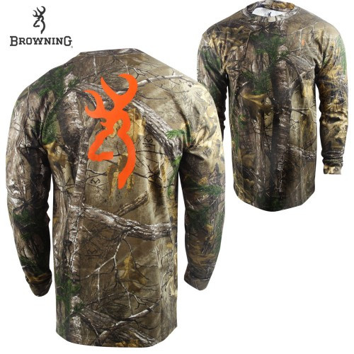 Browning Adult Wasatch Long Sleeve Buckmark Tshirt RTX