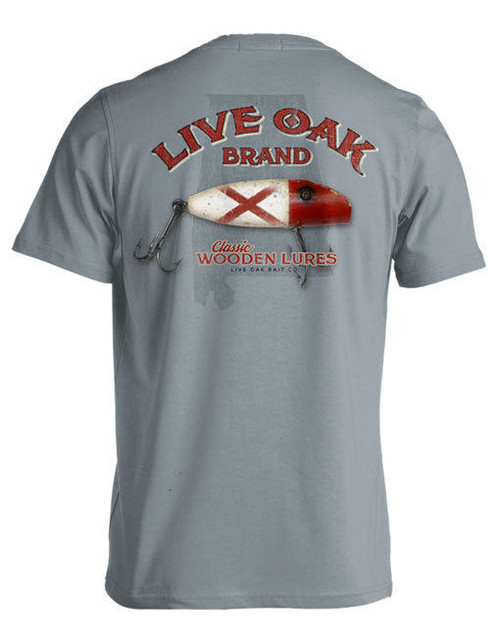 "LIVE OAK BRAND T-SHIRT COMFORT COLOR ""ALABAMA FISHING LURE FLAG"""