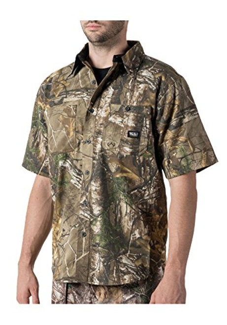 Wall's Legend DRY IQ Cape Back Short Sleeve Camo Shirt Realtree Xtra