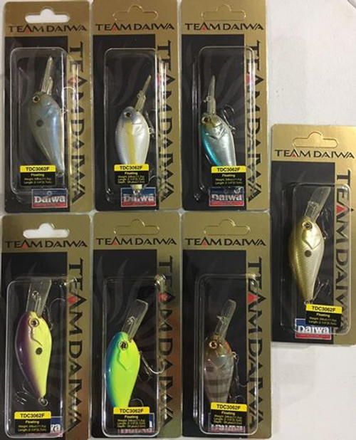 (7) Team Daiwa Crankbaits TDC3062F Rare Made In Japan