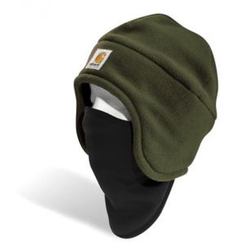 Carhartt Fleece 2-in-1 Headwear - Moss - A202 MOS CLOSEOUT
