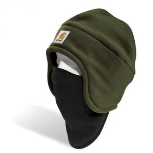 Carhartt Fleece 2-in-1 Headwear - Moss - A202 MOS CLOSEOUT