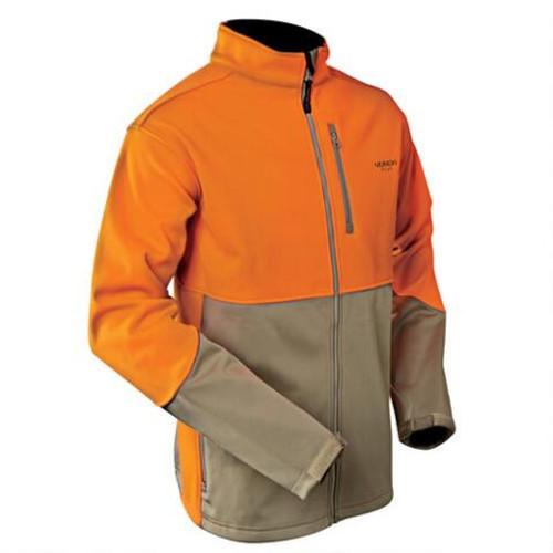 Yukon Gear Windproof Soft Shell Jacket Blaze/Khaki - Medium