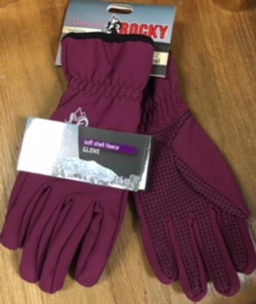 Rocky Women's Soft Shell Fleece Gloves Raspberry SMALL/MEDIUM