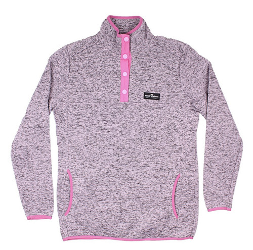 Simply Southern Knit Pullover Pink Heather