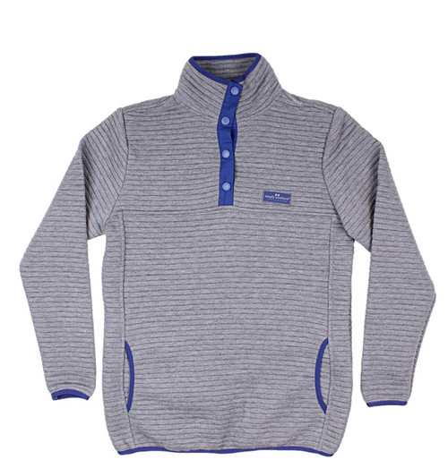 Simply Southern Ribbed Pullover Smoke