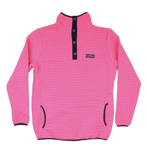 Simply Southern Ribbed Pullover Pink