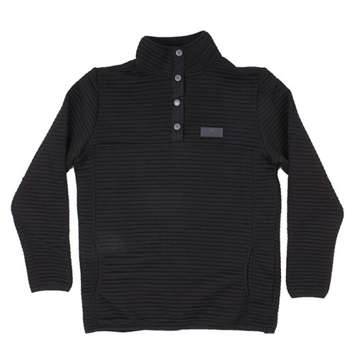 Simply Southern Ribbed Pullover Black