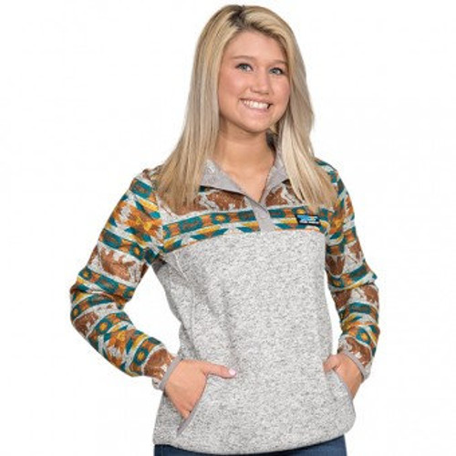 Simply Southern Knit Pullover Aztec Bear