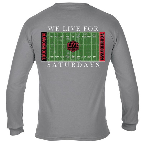 College Town Long Sleeve Touch Down Tee by We Live for Saturdays - Athens Granite
