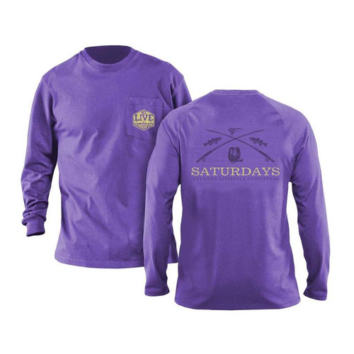 Saturdays on the Fly Long Sleeve Tee by We Live for Saturdays - Violet