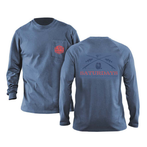 Saturdays on the Fly Long Sleeve by We Live or Saturdays - Navy