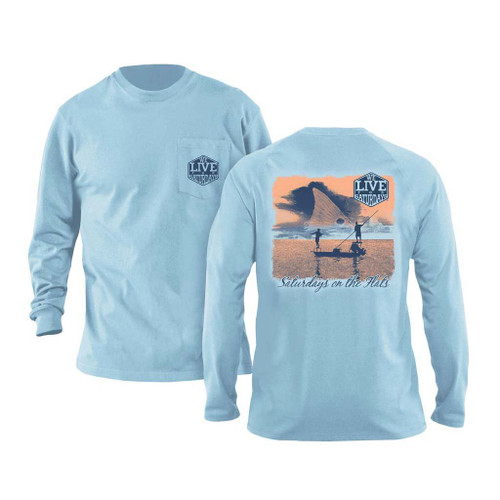 Flats Boats Long Sleeve Tee by We Live for Saturdays - Chambray