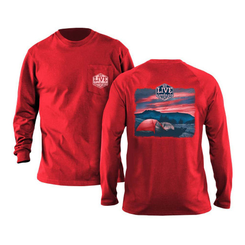 The Journey Long Sleeve Tee by We Live for Saturdays - Red