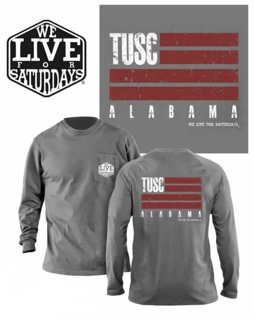 Tuscaloosa WL4S Flag Long Sleeve Tee - Gray