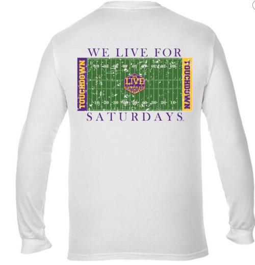 LSU Touchdown WL4S Long Sleeve Tee - White