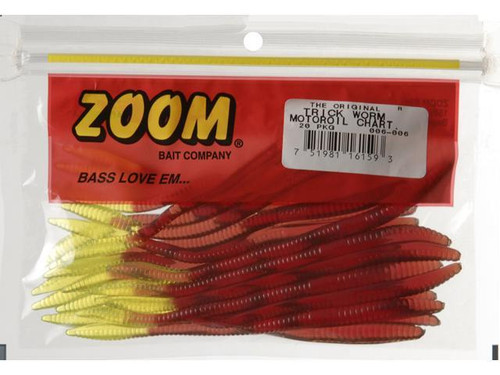 Lot of (10 Packs) Zoom Trick Worm 20-Count Motor Oil Chartreuse