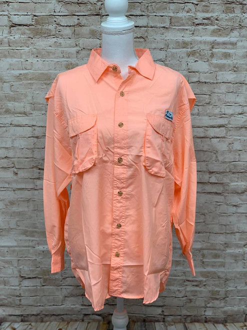 Branson Bay Fishing Shirt - Coral